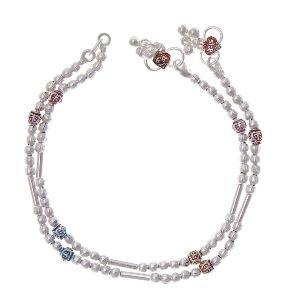 Silver Anklets For Women ( Sjwa9)