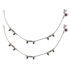 Silver Anklets For Womens (sjwa29)