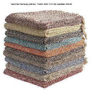 Cotton Jacquard Throw Blanket
