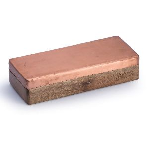 Wood Copper Cladded Tea Bag Box