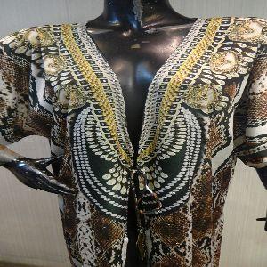 Womens Silk Digital Printed Kaftan