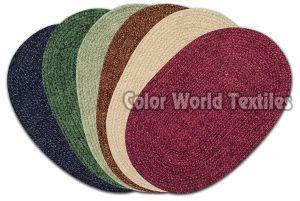 Solid Chenille Braided Mat