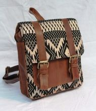 Leather Backpack Decorated With Kilim