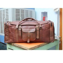 Real Leather Weekend Travel Luggage Bag
