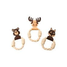 Leather Animal Rope Ring Dog Toy