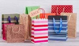 Multicolored Printed Paper Shopping Bags