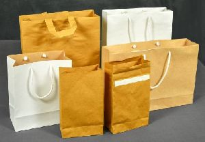 White And Brown Paper Shopping Bags
