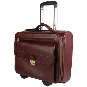 Leather Luggage And Travel Bag