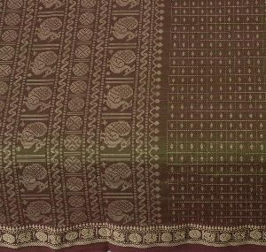 Cotton Peacock Ethnic Sari