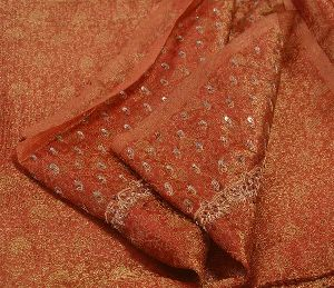 Hand Embroidery Woven Craft Fabric Sari