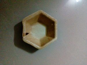 Hexagonal Areca Leaf Bowl