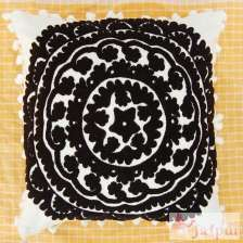 Black Woolen Embroidered Cushions Suzani Pillow Cover-craft Jaipur