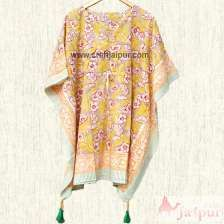 Cotton Boho Caftan Night Maxi Dress Kaftan, Beach Wear Poncho-craft Jaipur
