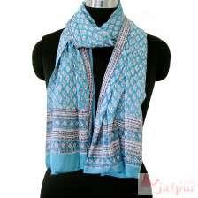 Cotton Scarf Floral Block Print Ladies Beach Cover Up Wraps-craft Jaipur