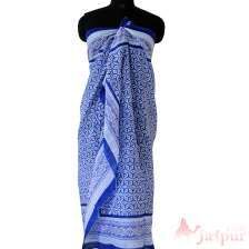 Floral Printed Cotton Indigo Indian Stole Scarves Dupatta-craft Jaipur