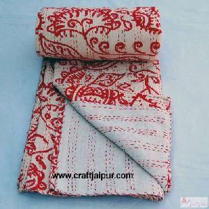 Floral Printed Indian Cotton Gudari Blanket
