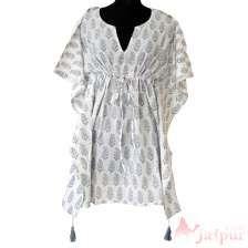 Handmade Cotton Short Kaftan Poncho Maxi Night Wear Dress-craft Jaipur