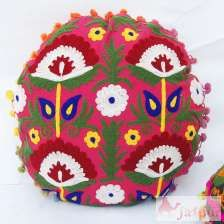 Handmade Suzani Pillow Cases Embroidered Cushions-craft Jaipur