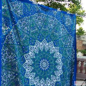 Large Star Mandala Tapestry Bedspread