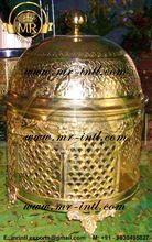 Brass Designer Taj Chafing Dish Buffet Food Warmer