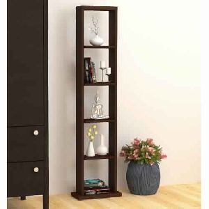 Bluewud Walten Solid Wooden Bookshelf (wenge)