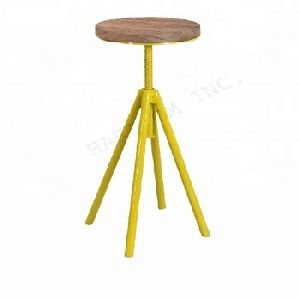 Industrial Revolving Bar Stool
