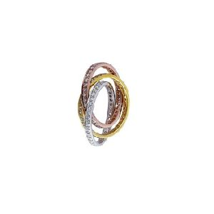 Channel Setting Diamond Gold Ring