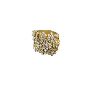 Fancy Gold Ring With Diamonds