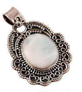 Larimar Gemstone 925 Sterling Silver Pendant