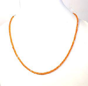Orange Zircon Gemstone Roundel Faceted Beads