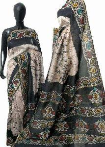 Chanderi Batik Print Sarees