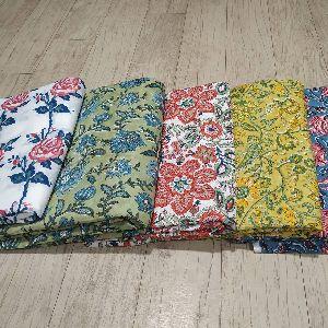 Cotton Hand Block Printed Running Fabric