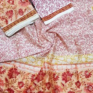 Traditional Hand Block Printed Chanderi Silk Suits