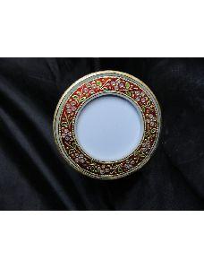 Malvia Marble Photo Frame Round
