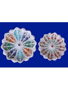 Taj Marble Inlay Bowl