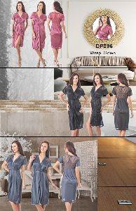 Fasense Women's Short Wrap Gown
