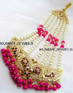 Pink Beaded Jhumar
