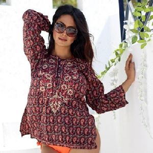 Embroidered Casual Dress Top