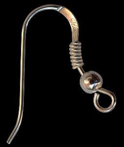 Sterling Silver Earwire with 2mm Ball