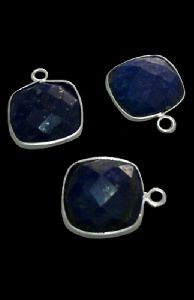 Sterling Silver Lapis Square CHARM