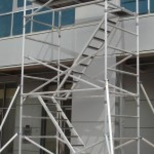 Aluminum Mobile Scaffolding Single Width Foldable Tower ARES