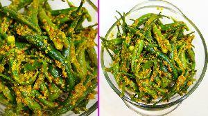 Green Athana Mirchi Pickle