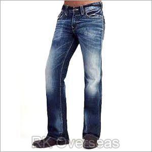 Mens Low Waist Bootcut Jeans