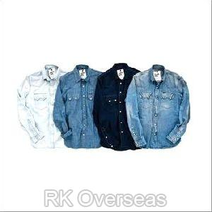 Mens Denim Full Sleeves Shirts