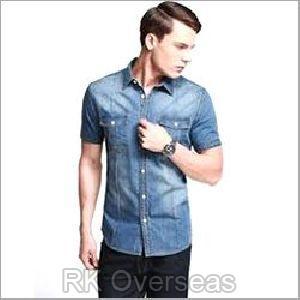Mens Denim Half Sleeves Shirts