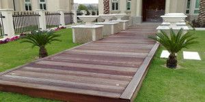 solid wood decking