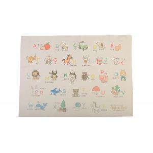 Quick Dry Sublimation A To Z Print  Baby Sheet - Ivory