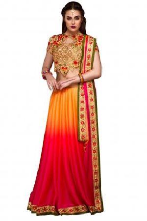 Stylee Lifestyle Multi Chiffon Embroidered Saree
