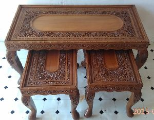 Antique Coffee Table Set