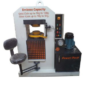 Gold And Silver Coins Embossing Hydraulic Press Machine